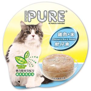 PURE巧鮮杯(貓)-雞肉+米+吻仔魚